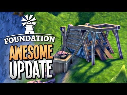 MINING FOR VALUABLE ORE IN THE HUGE NEW UPDATE - Foundation Gameplay