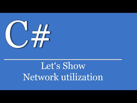 Let's Show #115 - C# Network utilization | Visual Studio Tutorial | IPv4 | Interface