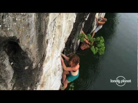 Rock climbing in Halong Bay, Vietnam - Lonely Planet travel videos