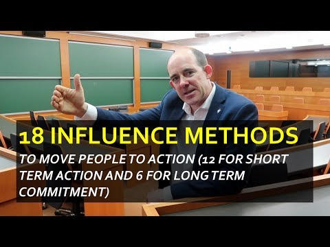 18 Influence Methods to Move People to Action