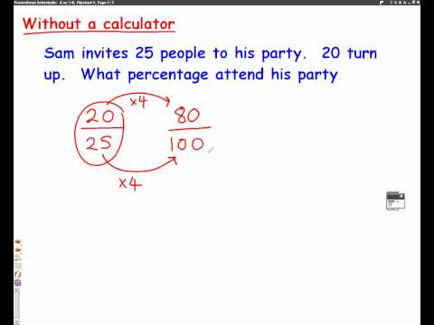 Fractions to Percentages mathscast