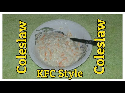Coleslaw Recipe KFC Style. How to make coleslaw Easy Homemade.