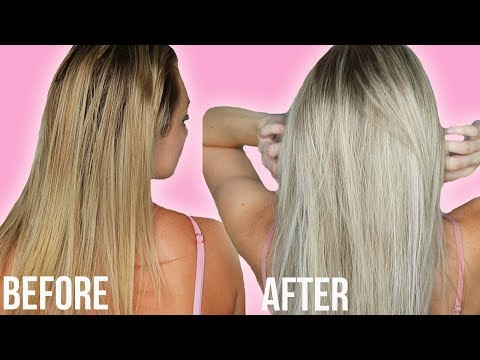 How to Tone Brassy Blonde Hair at Home! No Bleach or Dye!