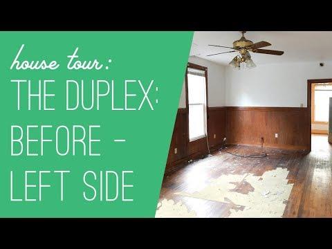 Beach Duplex Tour: Before - Left Side