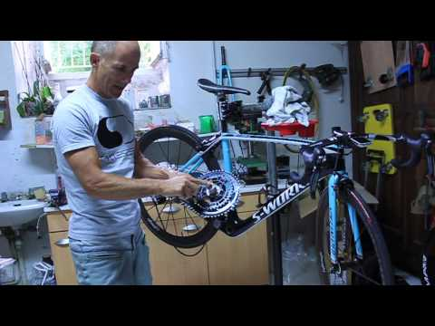 Specialized Sworks crankset removal, maintenance, assembly (en français aussi)