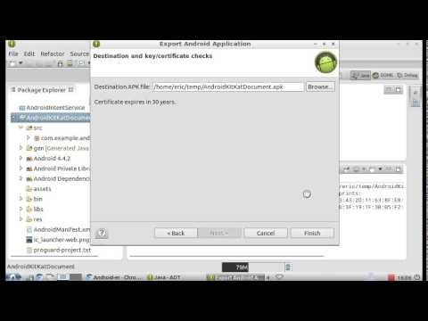 How to export signed Application Package (APK) in Eclipse, Android-adt