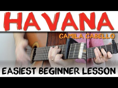 Havana Guitar Tutorial - Easiest Way To Play It | Camila Cabello Guitar Lesson, Chords & Strumming