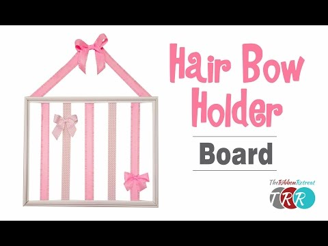 How to Make a Hair Bow Holder Board - TheRibbonRetreat.com