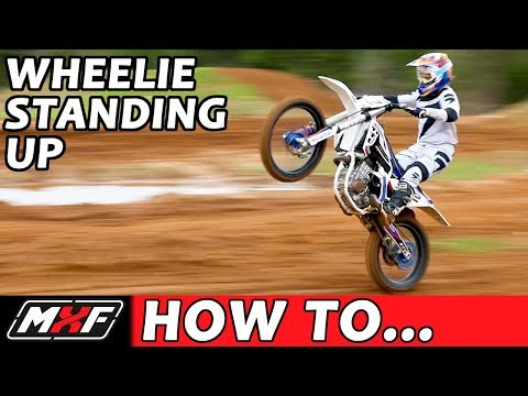 How to Wheelie Standing Up on a Dirt Bike - Learn How It Makes You Faster!!