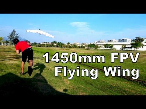 1450mm Delta Wing FPV @ 110km/h (68mph) - 1,45m Voo Zagi FPV a 110km/h