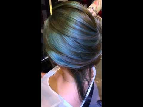 Asian hair color blue green ash