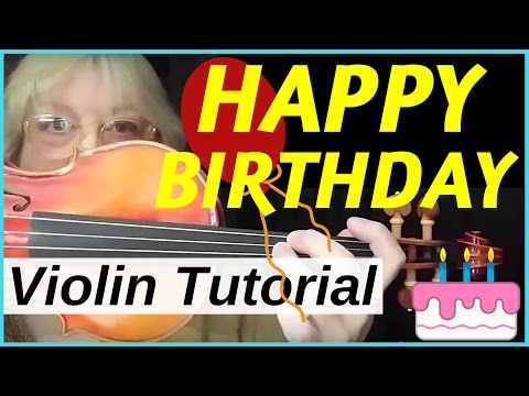 Violin - Happy Birthday to You - Tutorial for Intermediates