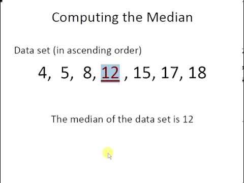 Introductory Statistics : Computing the Median