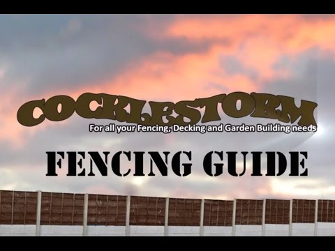 How to put up a fence with concrete posts and bases