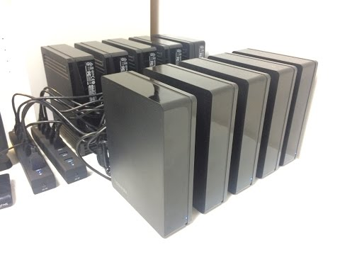 Burstcoin Mining With 50TB of External Hard Drives.
