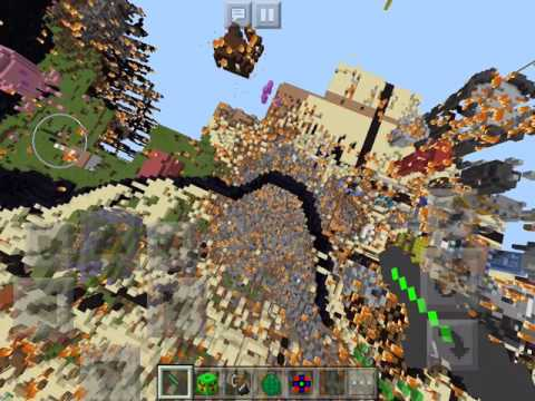 Bikini Bottom World in Minecraft PE Blows Up
