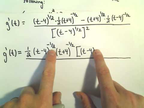 Quotient Rule to Find a Derivative + Simplifying