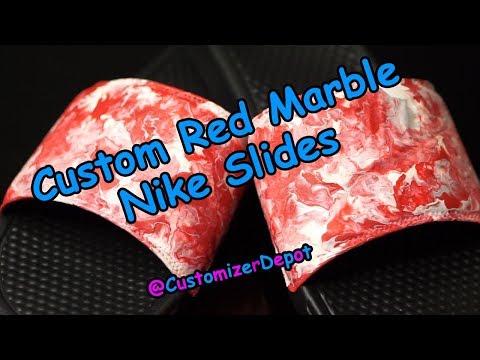 Custom Red Marble Slides - Cop or Drop?