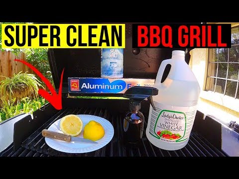 How To Naturally SUPER CLEAN your BBQ Grill -Jonny DIY