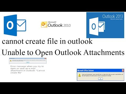 How to fix outlook error: cannot create file | unable to open file attachment