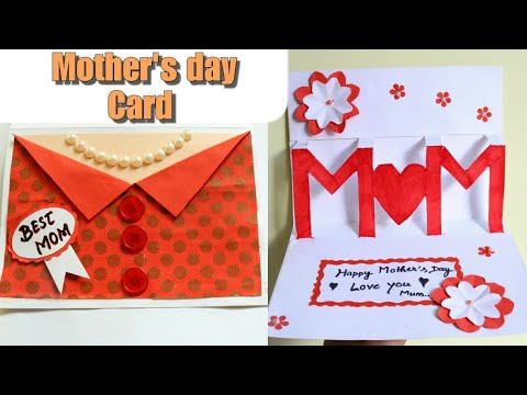 DIY Mother's day Card Mother's day Pop up card making Popup Mom card Mothers day gift idea Neck card