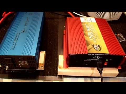 Aims 1500W Pure Sine Inverter Review and Shootout - Part 3/4