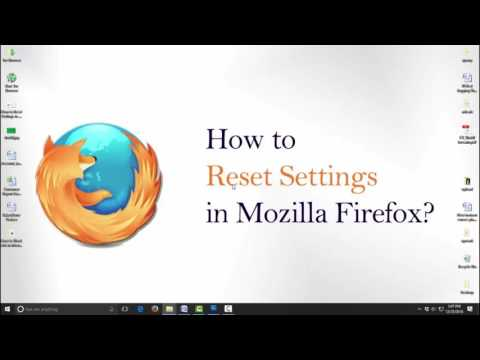 How to  Reset  Mozilla Firefox Settings