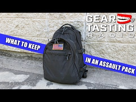 What to Keep in an Assault Pack - Gear Tasting Radio 62