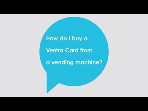 How do I buy a Ventra Card at a vending machine?