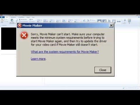 Windows Movie Maker, my simple fix. (Windows 7)