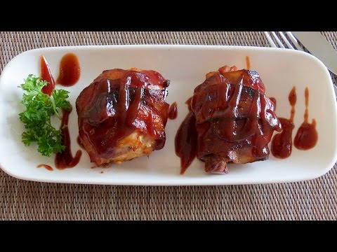 Bacon Wrapped Chicken Thighs -- The Frugal Chef