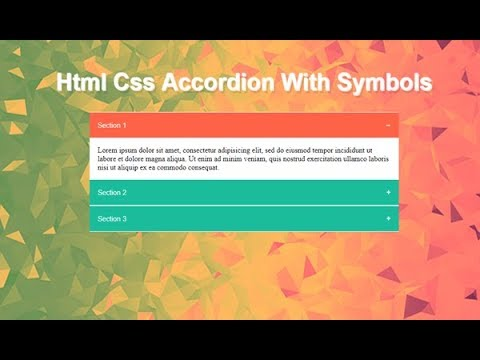 Css Accordion Menu Examples, Simple Accordion Css, Javascript Accordion, Html Css Accordion