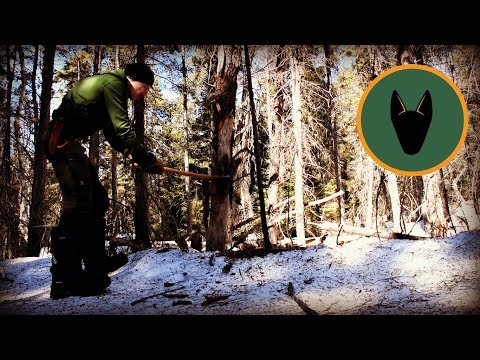 Bushcraft Shelters-Sleeping in a Snow Trench.