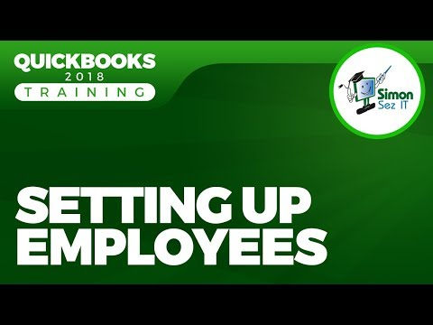 How to Setup Employees for Payroll in QuickBooks 2018