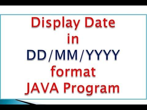 Display Date in DD/MM/YYYY Format in java
