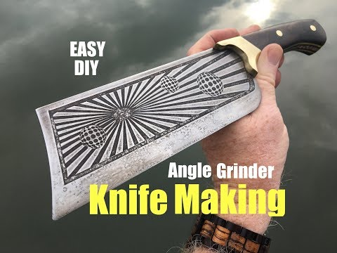 How to make a Cleaver Knife with a Angle Grinder and some basic tools