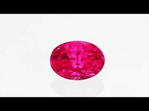 Top Mahenge Material Spinel Loose Gem in Oval Cut, Hot Rich Pink, 7 x 5 mm, 1.24 carats
