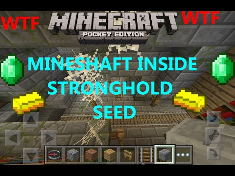 [MCPE 0.16.1] MINESHAFT INSIDE A STRONGHOLD SEED WTF ! 6 BLACKSMITHS, 7 VILLAGES | MINECRAFT PE