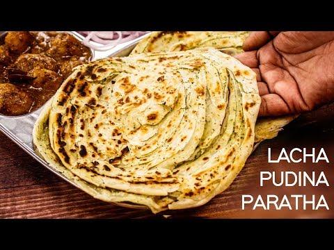 Lachha Paratha Recipe - Warqi Pudina Layered Parotta CookingShooking