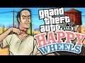 AMAZING GTA 5 LEVELS IN HAPPY WHEELS Happy Wheels Funny Moments