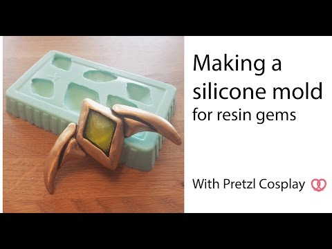 How to make a silicone mold for resin gems - Cosplay tutorial