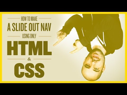 How To Make a Slide Out Navigation with HTML/CSS (No JavaScript)