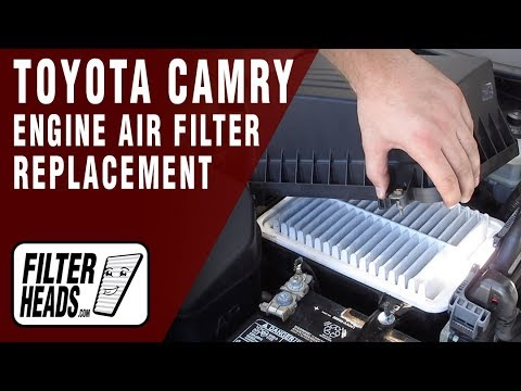 How to Replace Engine Air Filter 2011 Toyota Camry L4 2.5L