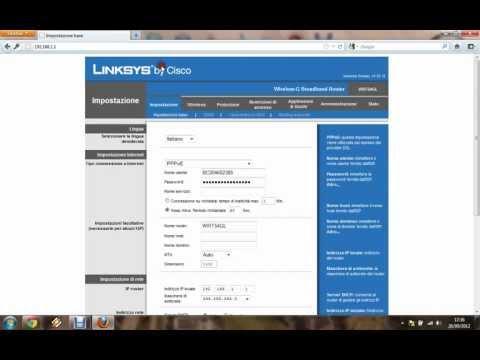 Guida Impostazione Password Linksys