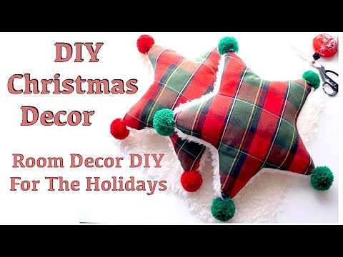 DIY DECO + How to Make a Star Pillow / Cushion Tutorial // Thrifted and Upcycledㅣmadebyaya