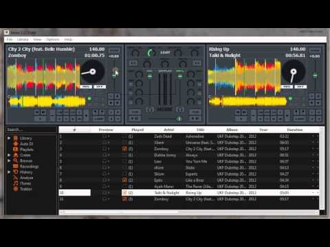 Simple dubstep mix on MIXXX (DJ Tutorial)