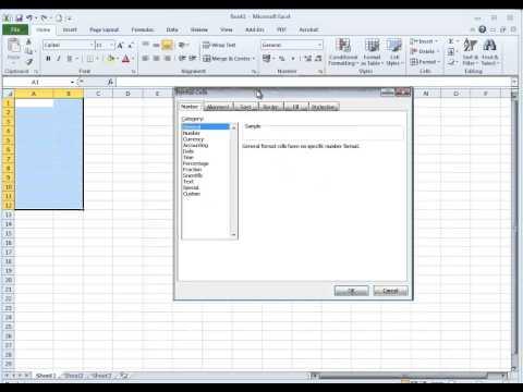 Video Tip: Display Leading Zeros in Excel 2010