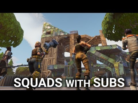 Fortnite Squads with SUBS [long stream replay]