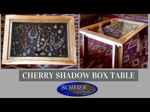 Cherry Shadowbox Coffee Table/ Custom Woodworking