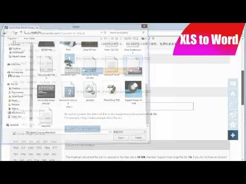 How to Convert XLS to Word